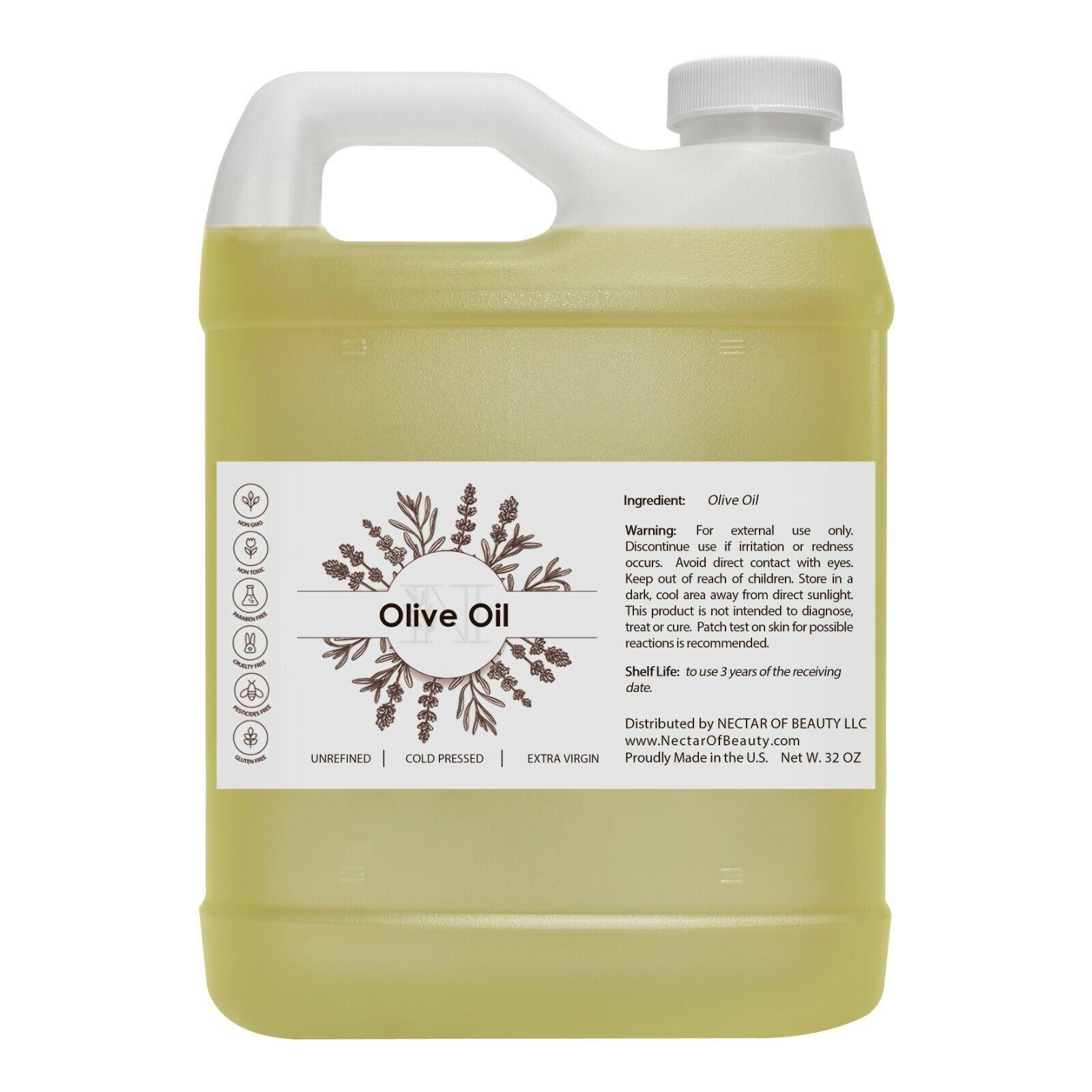 Olive oil 100% pure organic cold press carrier premium grade