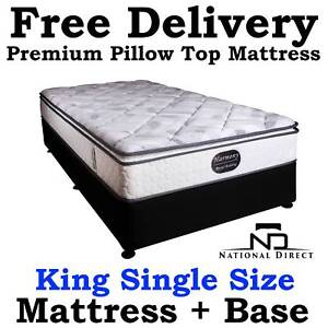 BRAND NEW King Single Bed Ensemble Mattress   Base FREE DELIVERY Stafford Brisbane North West Preview