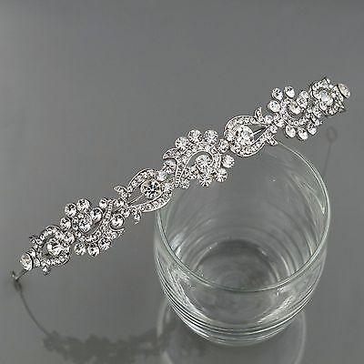 Wedding Headband Clear Austrian Crystal Rhinestone Tiara Crown Bridal Party 9907
