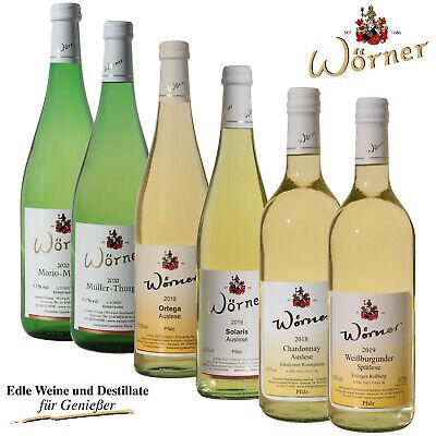 WEINGUT WÖRNER: 6 Fl Wein Weißwein lieblich-süß, div. Sorten für Ihre Weinprobe