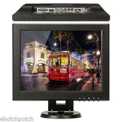 """شاشة ليد جديد 12"""" Inch HDMI/BNC/AV/VGA Input 4:3 /16:9 TFT LCD Monitor Computer Display Screen"""
