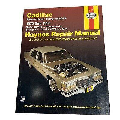 Haynes Repair Manual Cadillac 1970 - 1993 Sedan DeVille Seville Brougham 21030