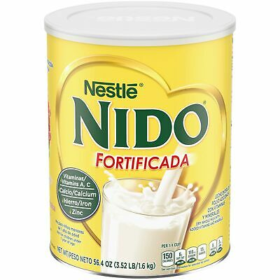 NESTLE NIDO Fortificada Dry Milk 56.4 Ounce Canister 3.52 Pound (Pack of 1)