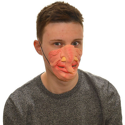 Funny Dress For Kids (Half Face Elephant Funny Fancy Dress Latex Mask For Kids & Adults)