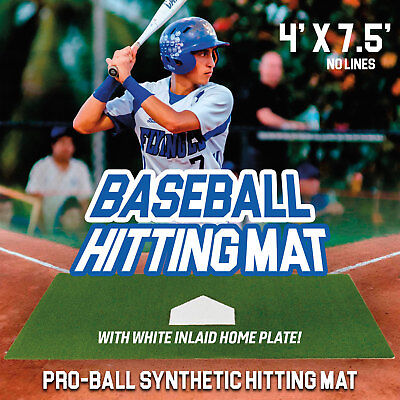 Pro-Ball Synthetic Turf Baseball/Softball Hitting Mat - 4 feet x 7.5 feet