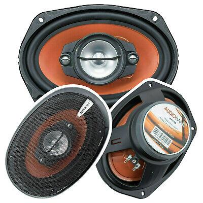 "2x Audiobank AB-790 6""x9"" 1000 Watt 4-Way Red Car Audio Stereo Coaxial Speakers"