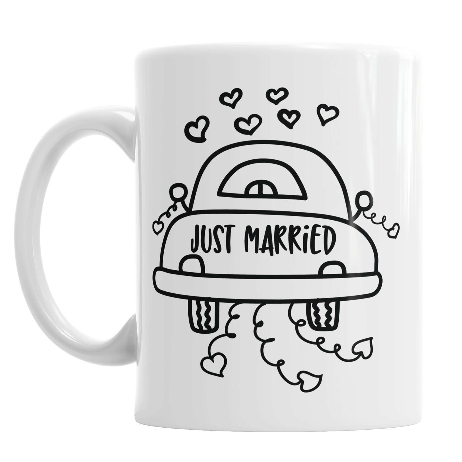 Just Married Mug Just Married Gift Wedding Car Mug Married Mug Married Gift - $13.99