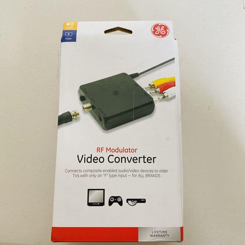 General Electric 34138  RF Modulator Video Converter  Black GE