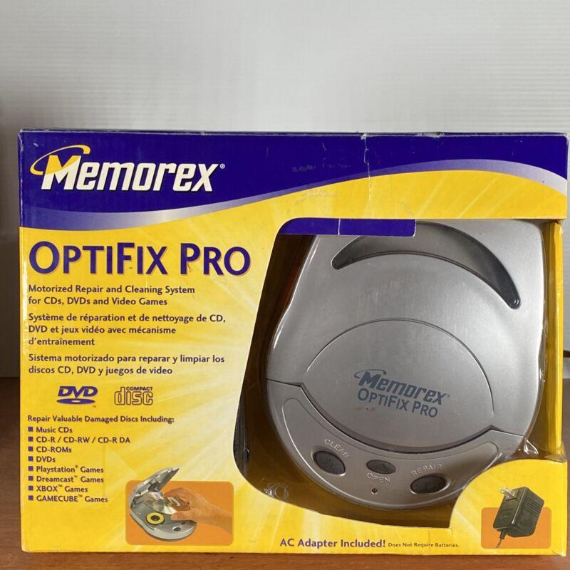 Memorex OptiFix Pro Motorized CD/DVD Scratch Repair Kit for CD/DVD Music, Movies