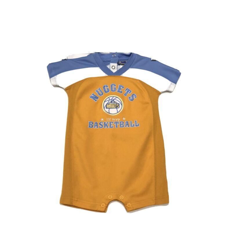 NBA Denver NUGGETS Basketball Romper Infant Sz 18M 18 Months SS Embroidered