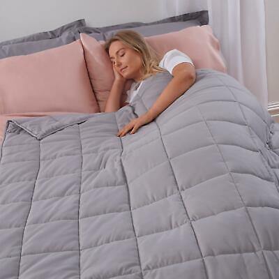 Weighted Blanket Sensory Sleep Therapy Anxiety Kids/Adults Grey 3-9kg