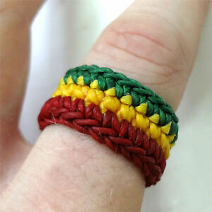 Handmade Mens Womens Rasta Ring Hippie Reggae Mans Ladies Hippy Surfer Jewellery