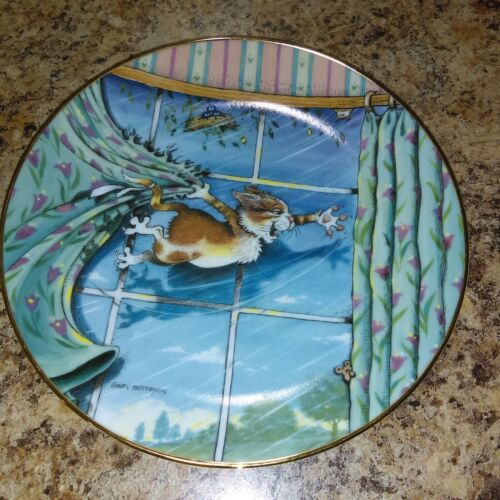 Danbury Mint Collectors Plate-Curtain Call by Gary Patterson Comical Cats