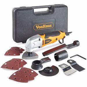 VonHaus 2.3 Amp Multi Purpose Oscillating Tool Corded 15 Accessories 6 Speeds