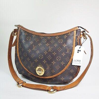 Authentic Louis Vuitton Tulum GM Monogram M40075 Genuine Initial engraved LC973