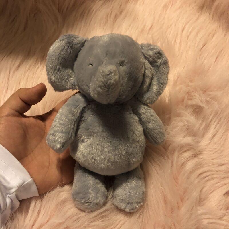 Carters Child Of Mine 2015 Plush Gray Rattle Elephant Crinkle Ears Stuffed Toy
