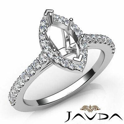 U Prong Set Brilliant Cut Diamond Engagement Marquise Semi Mount 0.50Ct. ()