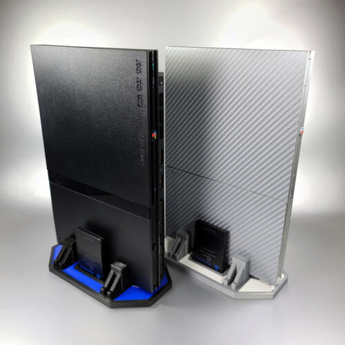 Custom Vertical Stand for PS2 Slim Consoles 3D Printed PlayStation 2 Multi Color