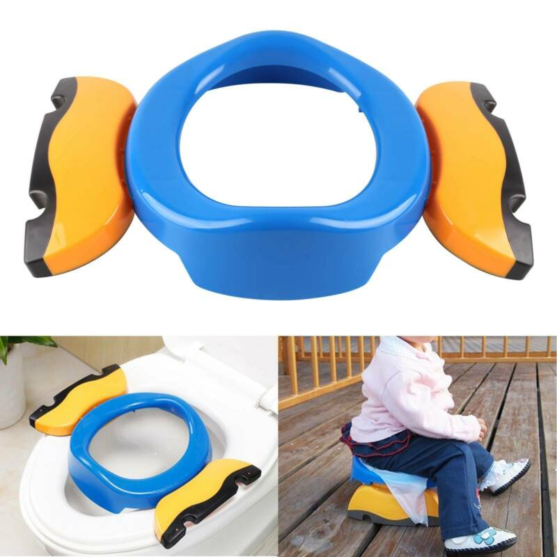 Kids Potty Training Travel Portable Foldable Toddler Toilet Safe Seat Plastic B
