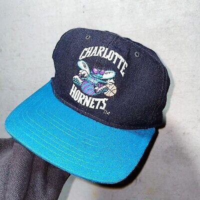 Vintage VTG 90s 1990s Charlotte Hornets Starter Snapback Snap Cap Hat NBA