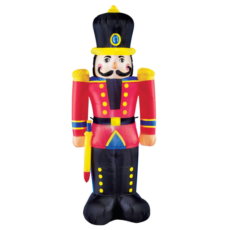 6-ft Nutcracker Holiday Yard Inflatable - Outdoor Holiday Decorative Accent