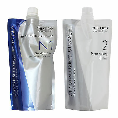 Shiseido Crystallizing Straight Perm For Natural Hair N1 + 2 Lots 2 Wholesale