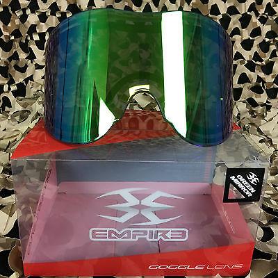 NEW Empire E-Vents E-Flex Helix Avatar Paintball Lens - Thermal - Mirror Green