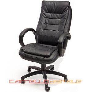 Sedia poltrona presidenziale direzionale ergonomica per for Sedia ufficio xxl