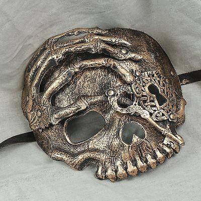 NEW Halloween Full Detail Evil Skull Face Masquerade Costume Venetian Party Mask