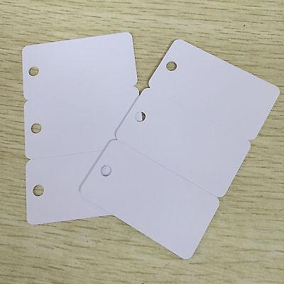 3-up PVC Breakaway Key Tags, White Inkjet ID Card CR80 30Mil 10pcs 30 tags