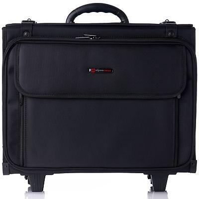 Alpine Swiss Rolling Briefcase Wheel Catalog Hard Case Laptop Bag Lawyer Attache Briefcase Wheeled Laptop Cases