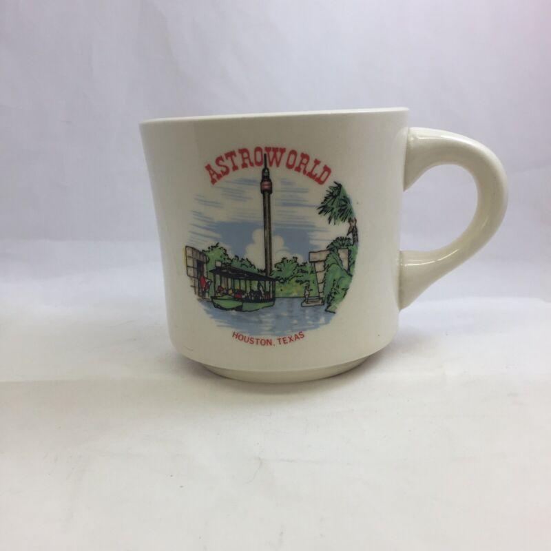 Astroworld Mug Cup Vintage Houston Texas Six Flags Amusement Park 60