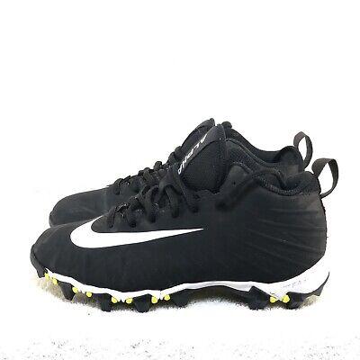 best service b9acd e97db A4 Nike Alpha Menace Shark Football Cleats Black White 3Y Youth 902510-011