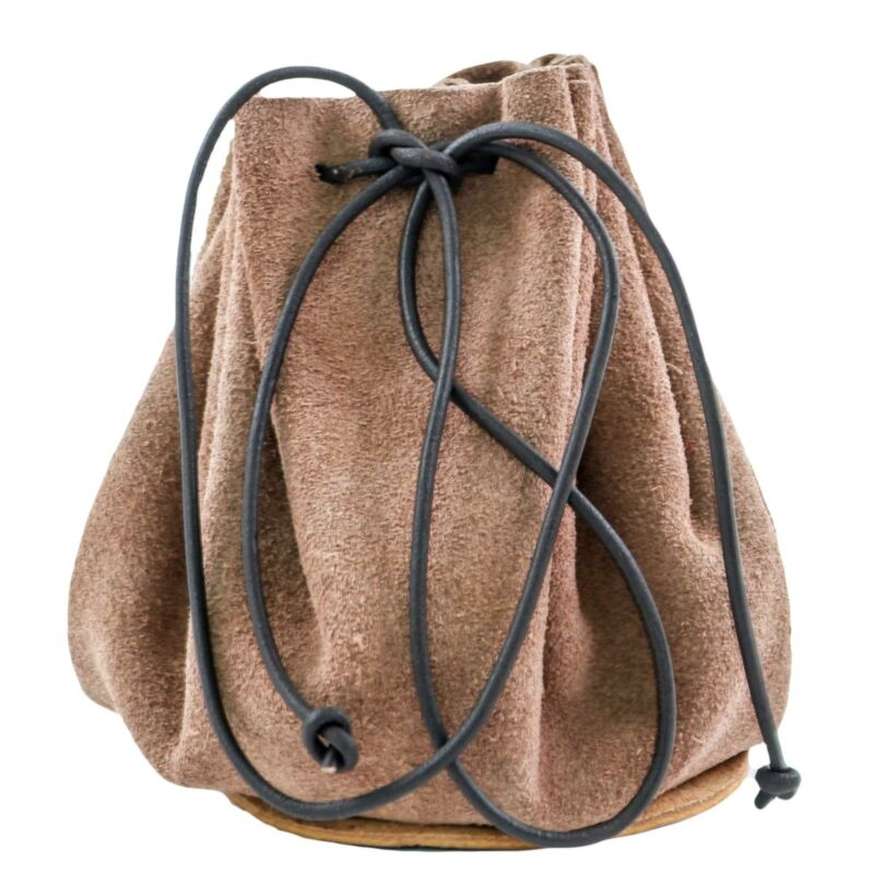 Suede Drawstring Leather Pouch Bag Christmas Gift/Wedding Party Favors - Brown