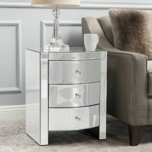 Jacinda Mirrored Accent 3-Drawer Nightstand Furniture