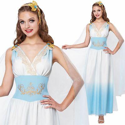 Damen Römische Kaiserin Griechische Göttin Kostüm Toga Buchwoche Erwachsene