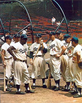 Brooklyn Dodgers Photo - Great Brooklyn Dodgers  8x10 color photo, Campy, Jackie, Reese, Hodges, Snider