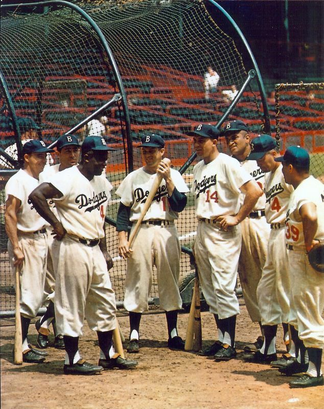 Great Brooklyn Dodgers  8x10 color photo, Campy, Jackie, Reese, Hodges, Snider