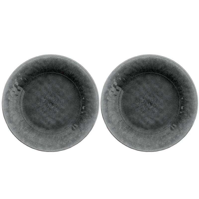 Potters Reactive Glaze GREY Melamine Side Plate x 2