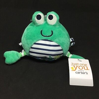 Just One You Carter's Green Crab Plush Striped Stuffed Toy Boat Captain Cutie
