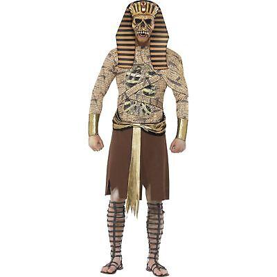 Halloween Egyptian Zombie Pharoah Mummy Adults Mens Fancy Dress Costume](Zombie Mummy Halloween Costumes)