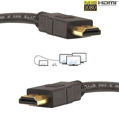 GOLD 1080P HDMI CABLE LEAD SMART HD TV HDTV 3D METRE 1m 1.5m 2m 3M 5M 10M Uk 1080p Smart Hdtv