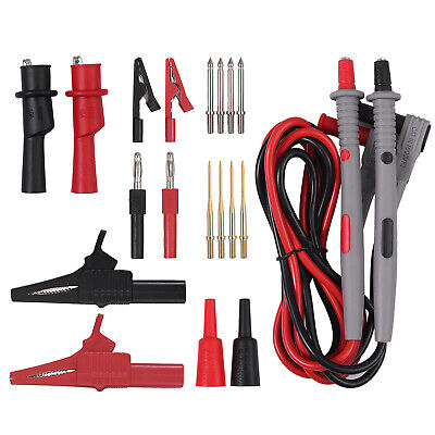 7 In 1 Silicone Digital Multimeter Test Lead Kit Probe Wire Pen Cable Tip Clamp