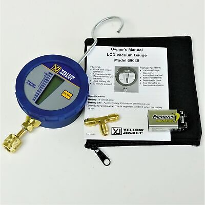 Yellow Jacketlcd Digital Micron Vacuum Gauge Hvac