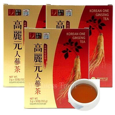 Authentic Korean Ginseng Tea 150 Tea bags (50T x 3Box) ginseng, insam, panax
