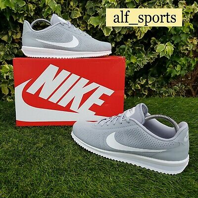 BNWB & Authentic Nike ® Cortez Ultra Moire Grey White Trainers UK...