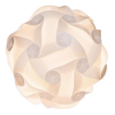 Lampenschirm Weiß Puzzle Lampe DIY Lampe Schirm 15 Designs Größe M ca. 30 cm