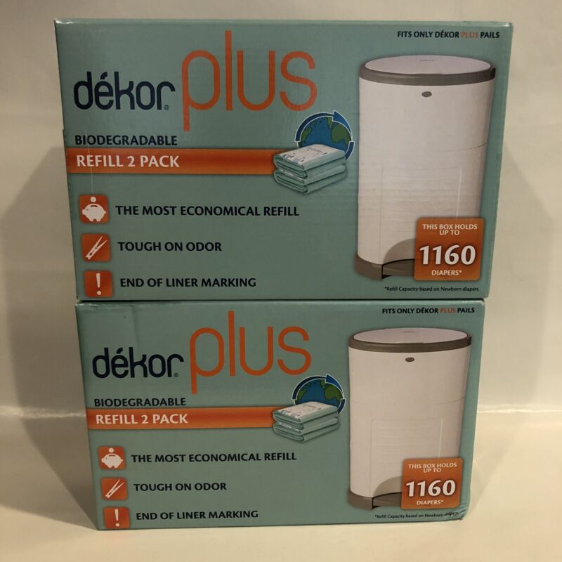 Diaper Dekor Plus Biodegradable Refill - 2 Boxes Of 2