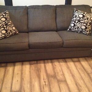"""Couch and queen sofa bed 7'4"""""""