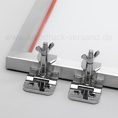 2x Siebrahmenzwingen | Siebdruck Klammern für Siebdruckrahmen, Siebdruckmaschine